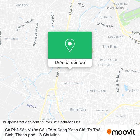 Bản đồ Cà Phê Sân Vườn Câu Tôm Càng Xanh Giải Trí Thái Bình