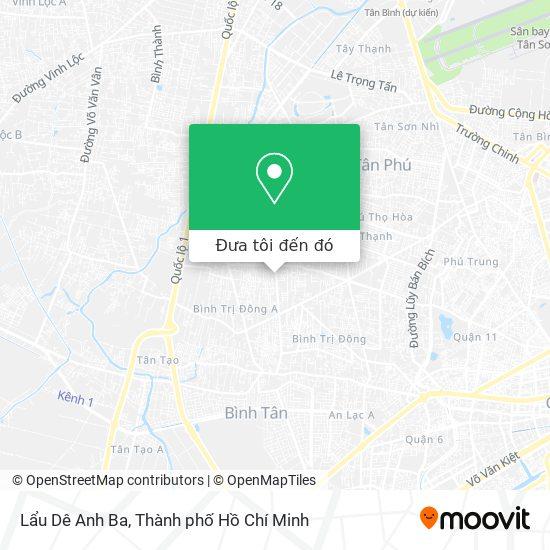 Bản đồ Lẩu Dê Anh Ba