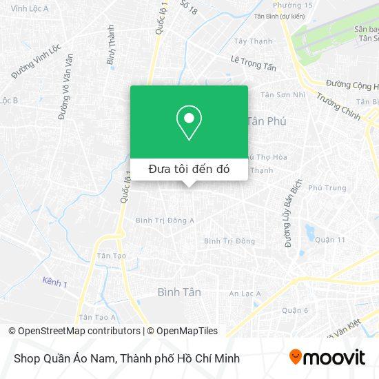 Bản đồ Shop Quần Áo Nam