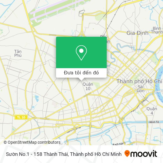 Bản đồ Sườn No.1 - 158 Thành Thái