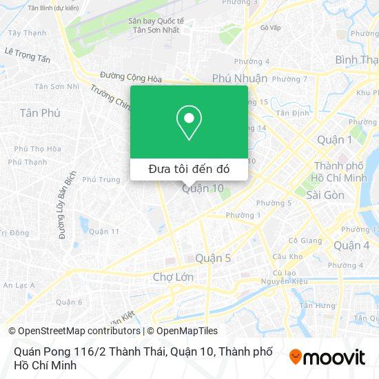Bản đồ Quán Pong 116 / 2 Thành Thái, Quận 10