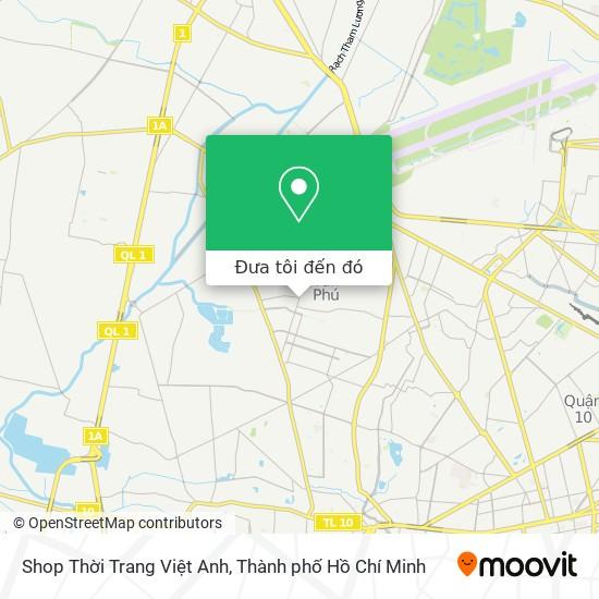 Bản đồ Shop Thời Trang Việt Anh