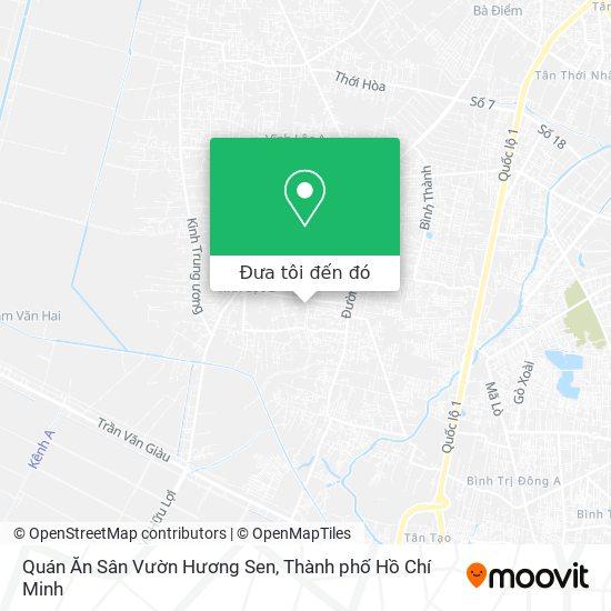 Bản đồ Quán Ăn Sân Vườn Hương Sen