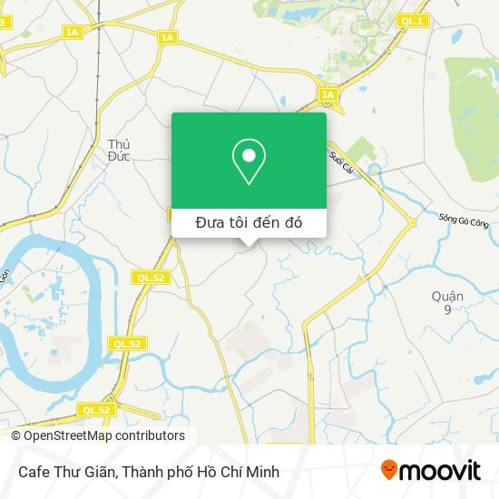 Bản đồ Cafe Thư Giãn