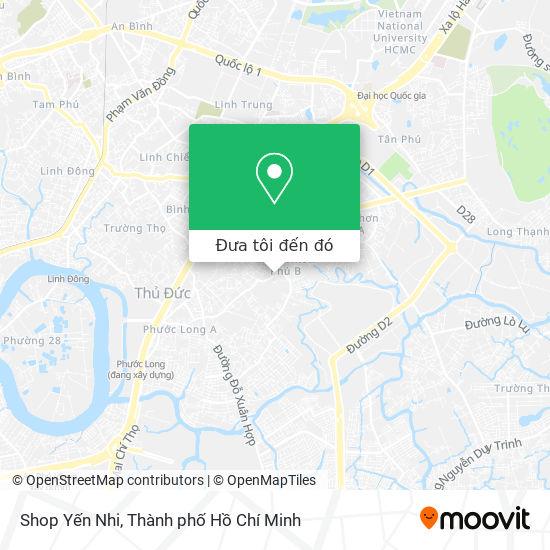 Bản đồ Shop Yến Nhi