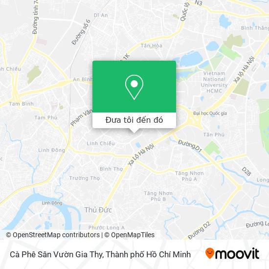 Bản đồ Cà Phê Sân Vườn Gia Thy