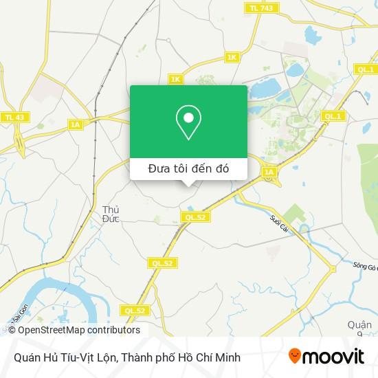 Bản đồ Quán Hủ Tíu-Vịt Lộn