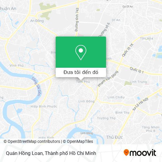 Bản đồ Quán Hồng Loan