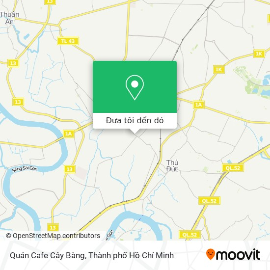 Bản đồ Quán Cafe Cây Bàng