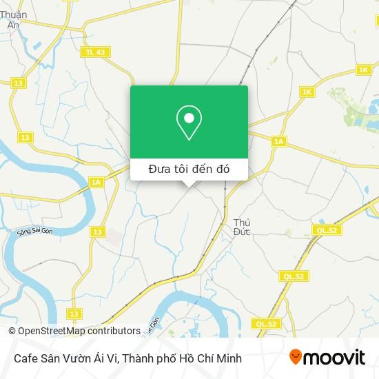 Bản đồ Cafe Sân Vườn Ái Vi