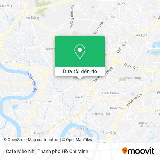Bản đồ Cafe Mèo Nhí