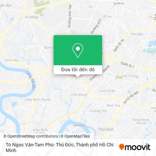 Bản đồ Tô Ngọc Vân-Tam Phú- Thủ Đức