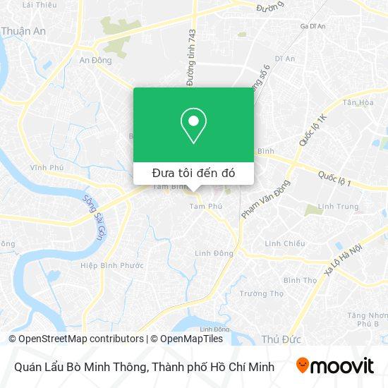 Bản đồ Quán Lẩu Bò Minh Thông