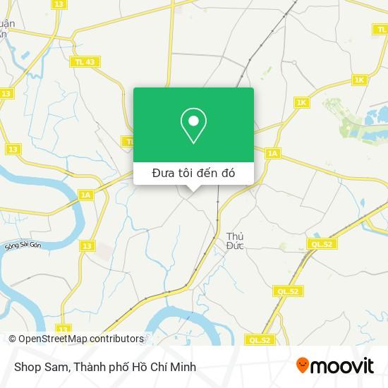 Bản đồ Shop Sam
