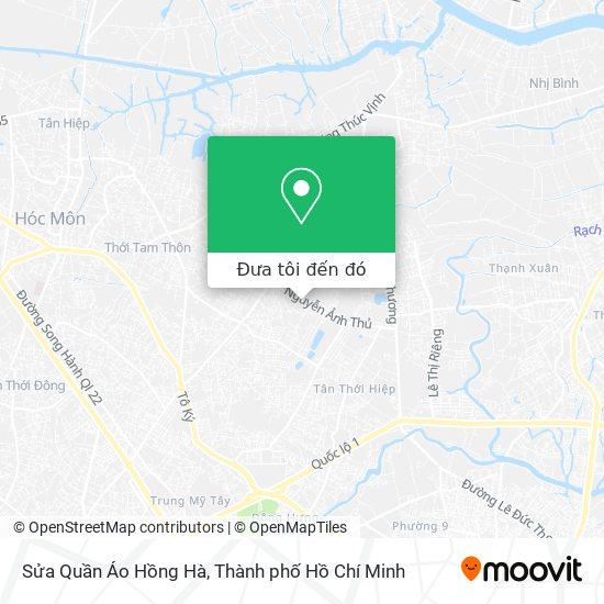 Bản đồ Sửa Quần Áo Hồng Hà