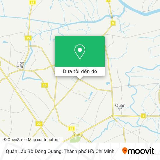 Bản đồ Quán Lẩu Bò Đông Quang