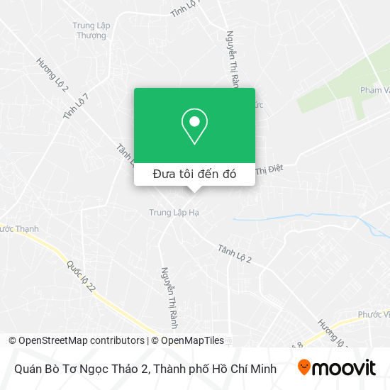 Bản đồ Quán Bò Tơ Ngọc Thảo 2