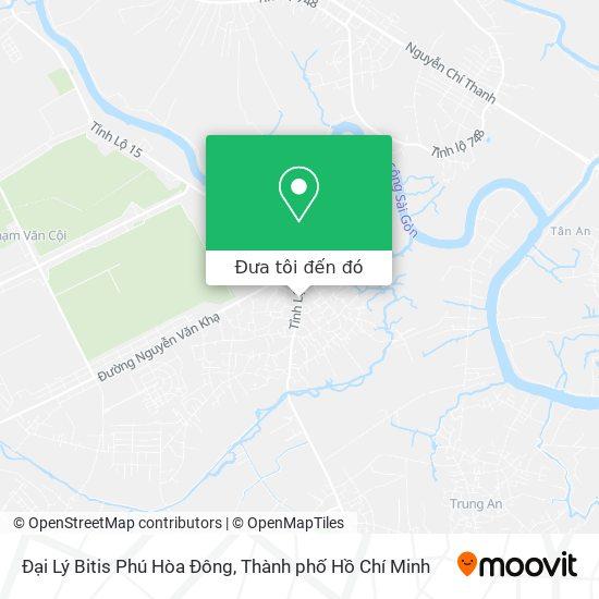 Bản đồ Đại Lý Bitis Phú Hòa Đông