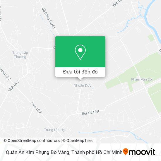 Bản đồ Quán Ăn Kim Phụng Bò Vàng