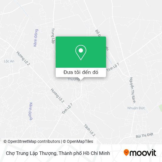 Bản đồ Chợ Trung Lập Thượng