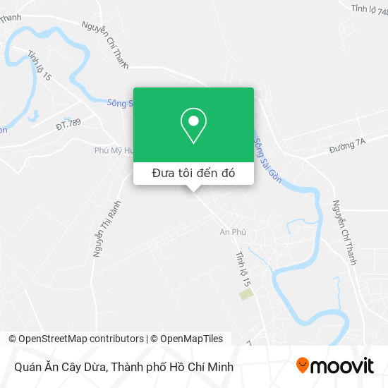 Bản đồ Quán Ăn Cây Dừa