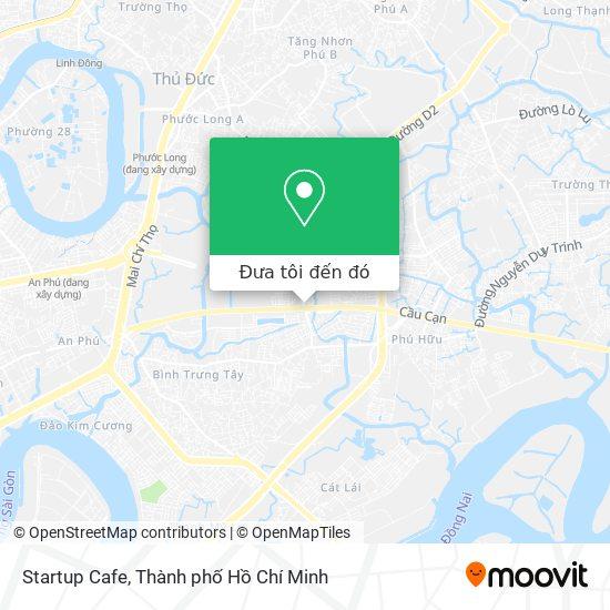 Bản đồ Startup Cafe