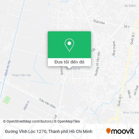 Bản đồ Đường Vĩnh Lộc 1270