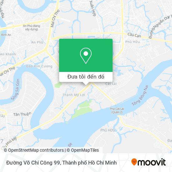 Bản đồ Đường Võ Chí Công 99