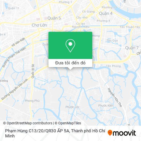 Bản đồ Phạm Hùng C13/20/QR30 ẤP 5A