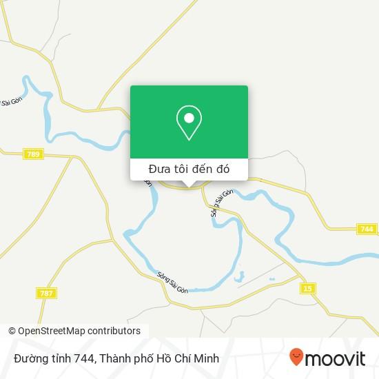 Bản đồ Đường tỉnh 744