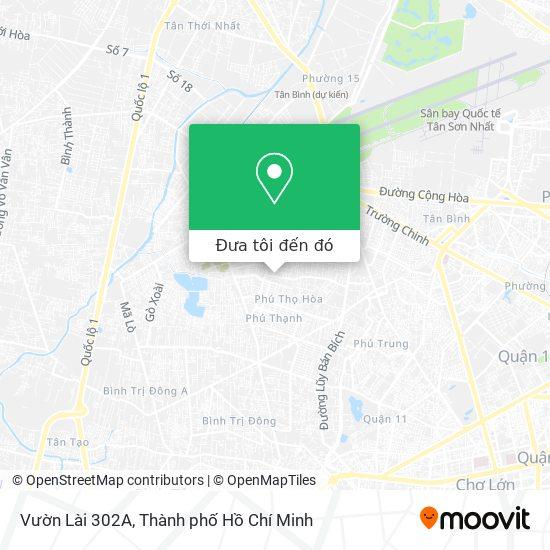 Bản đồ Vườn Lài 302A