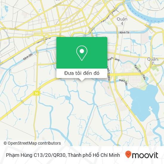 Bản đồ Phạm Hùng C13/20/QR30