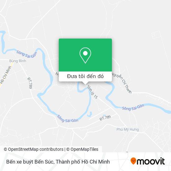 Bản đồ Bến xe buýt Bến Súc