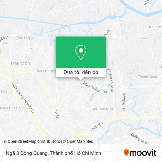 Bản đồ Ngã 3 Đông Quang