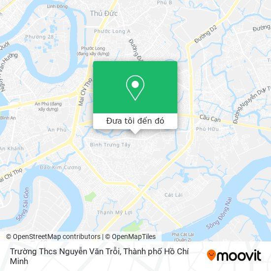 Bản đồ Trường Thcs Nguyễn Văn Trỗi