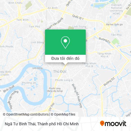 Bản đồ Ngã Tư Bình Thái