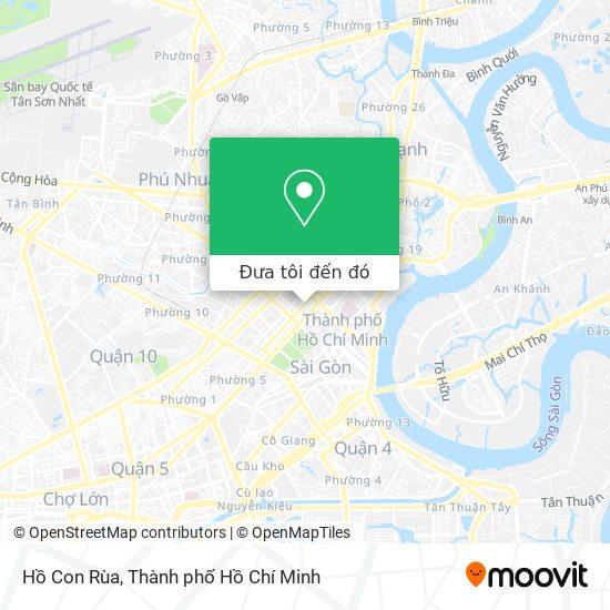 Bản đồ Hồ Con Rùa