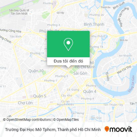 Bản đồ Trường Đại Học Mở Tphcm