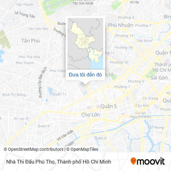 Bản đồ Nhà Thi Đấu Phú Thọ