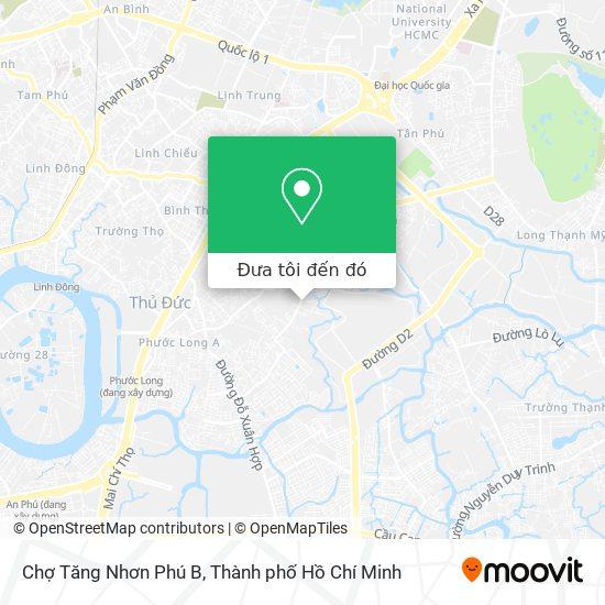 Bản đồ Chợ Tăng Nhơn Phú B