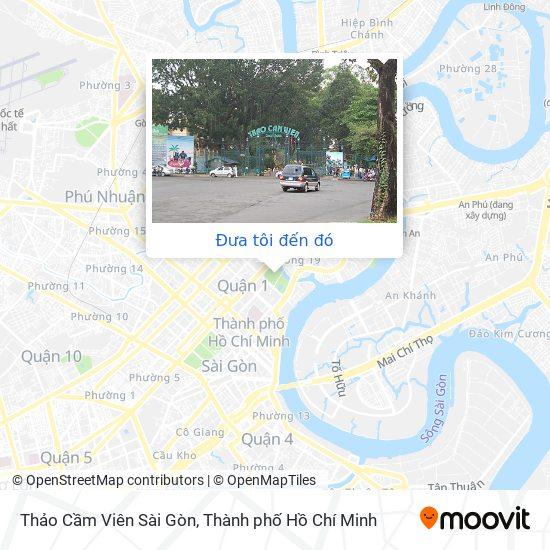 Bản đồ Thảo Cầm Viên Sài Gòn