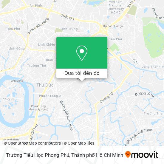Bản đồ Trường Tiểu Học Phong Phú