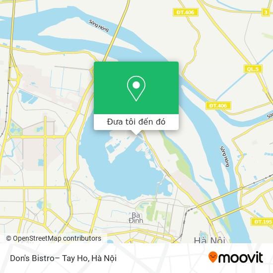 Bản đồ Don's Bistro– Tay Ho
