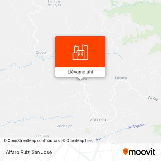 Mapa de Alfaro Ruiz