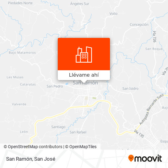 Mapa de San Ramón