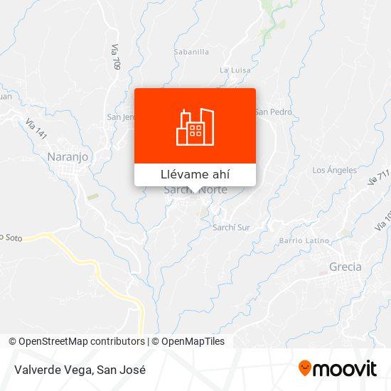 Mapa de Valverde Vega
