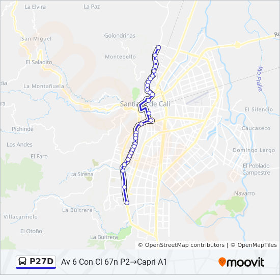 P27D Route: Time Schedules, Stops & Maps - Capri A1 →Terminal Menga on