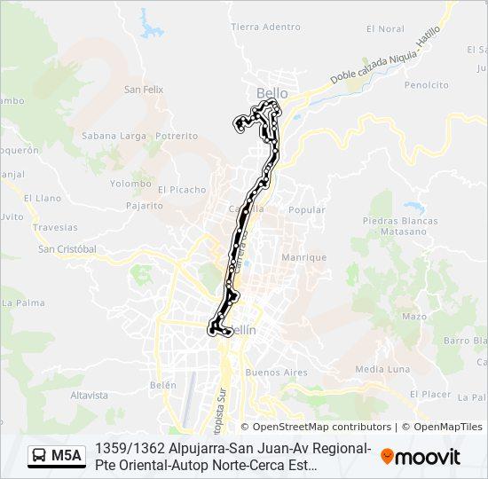Mapa De La Alpujarra.Linea M5a Horarios Mapas Y Paradas La Alpujarra Calle 44