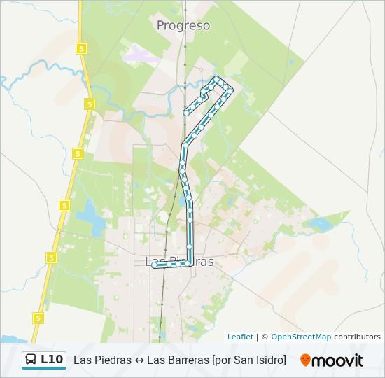 Mapa de L10 de ómnibus