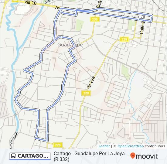 Linea Cartago Guadalupe Por La Joya Horarios Mapas Y Paradas